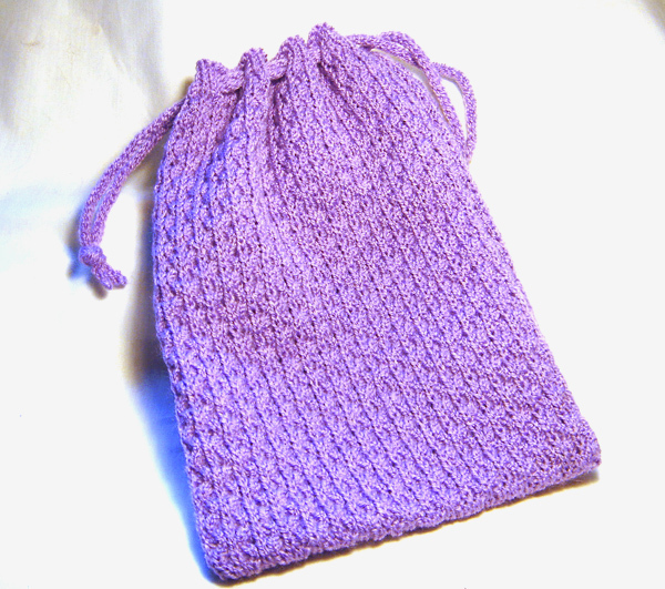 How To Knit A Drawstring Bag